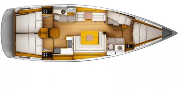 Jeanneau Sun Odyssey 439 zwischen Privatpersonen und professionellem Anbieter Tivat