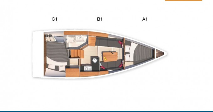 Vermietung Segelboot Hanse mit Führerschein