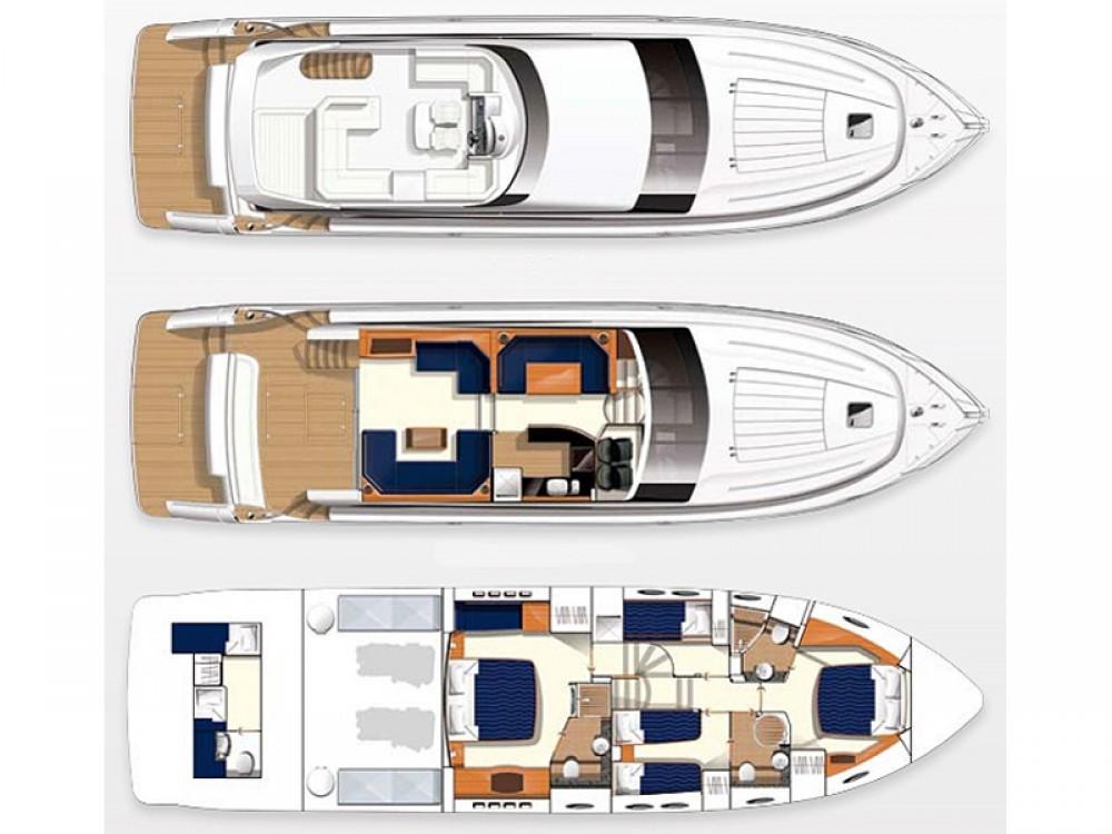 Yacht-Charter in Split - Princess Princess 62 auf SamBoat