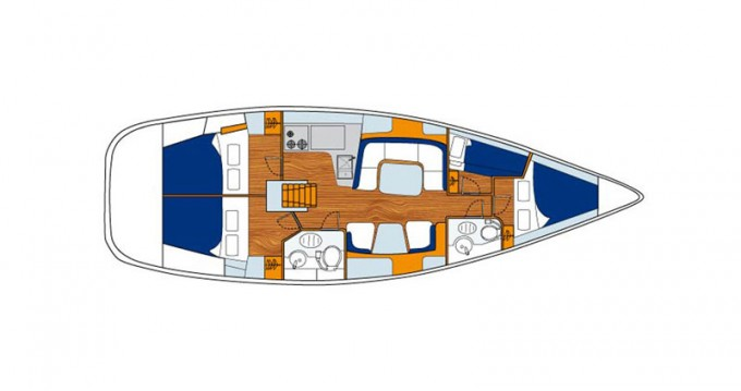 Bootsverleih Paros günstig Sun Odyssey 43