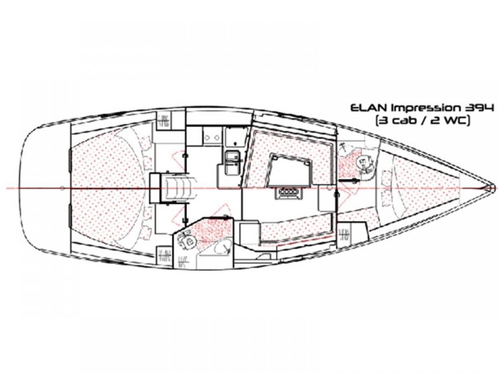 Bootsverleih Álimos günstig Elan 394 impression