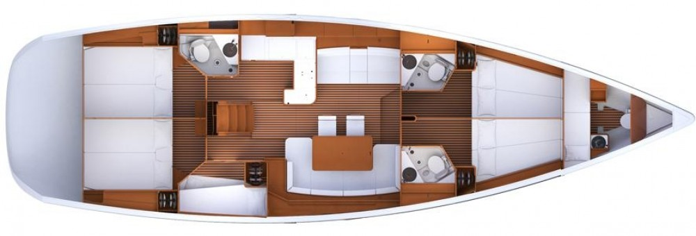 Bootsverleih Jeanneau Jeanneau 53 Split Samboat