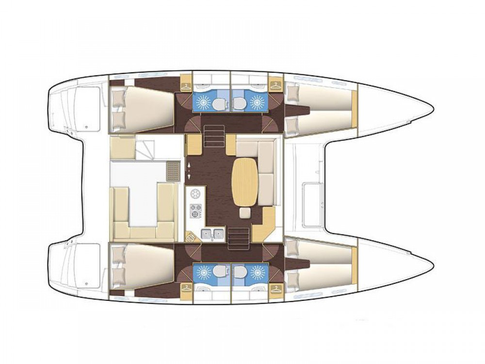 Bootsverleih Rhodos günstig Lagoon 400