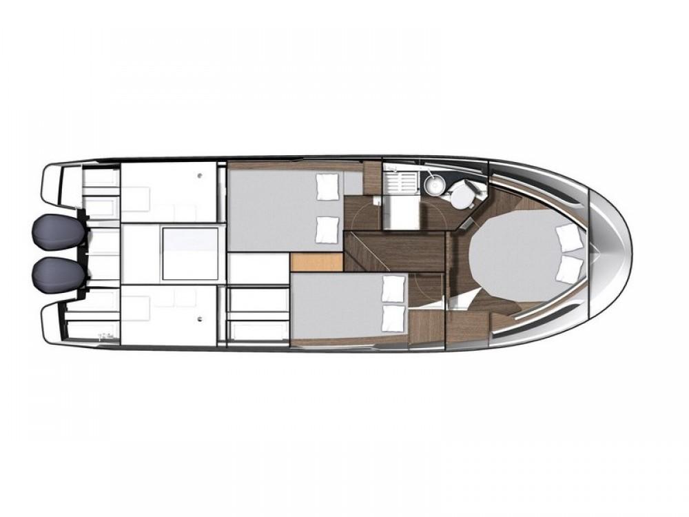 Motorboot mieten in ACI Marina Split - Jeanneau Jeanneau Merry Fisher 1095