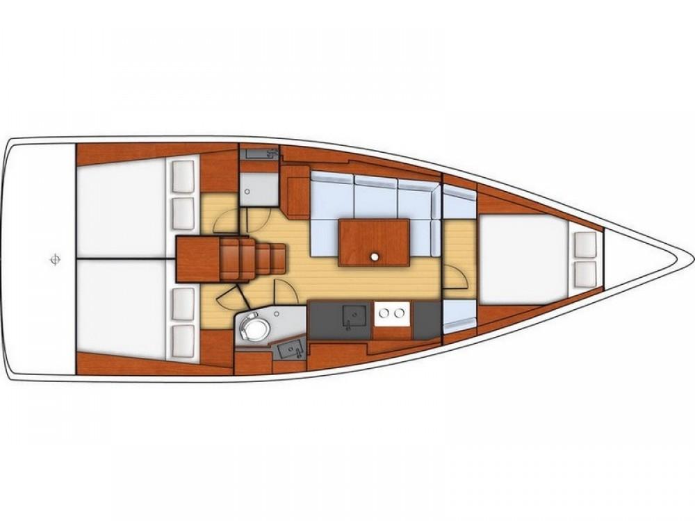 Segelboot mieten in Split - Bénéteau Beneteau Oceanis 38