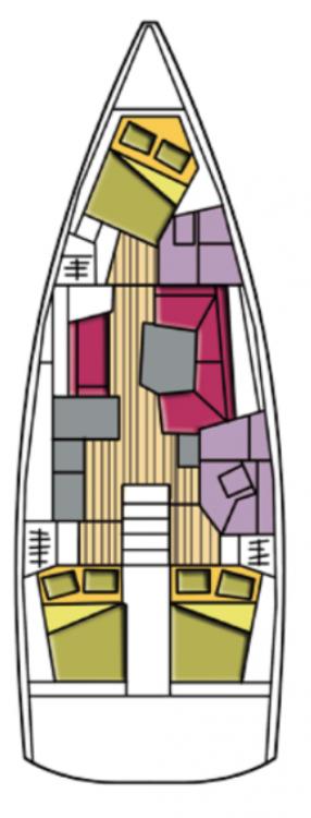 Bénéteau Oceanis 41.1 zwischen Privatpersonen und professionellem Anbieter Cala dei Sardi