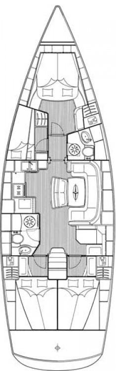 Bavaria Cruiser 46 zwischen Privatpersonen und professionellem Anbieter Ionian Islands
