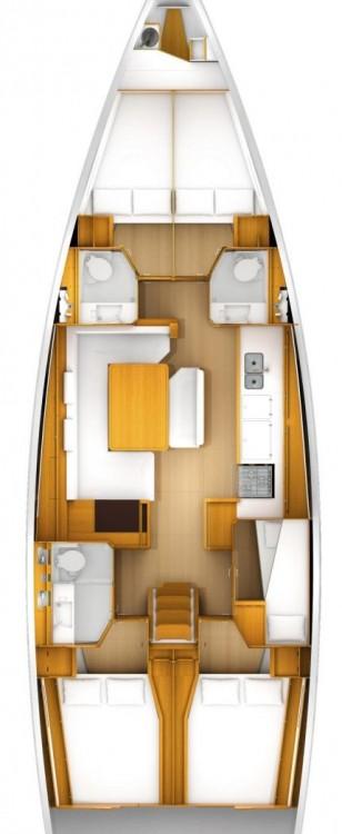 Segelboot mieten in Kroatien - Jeanneau Sun Odyssey 519 - 5 + 1 cab.