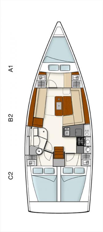 Bootsverleih Hanse Hanse 385 Kroatien Samboat