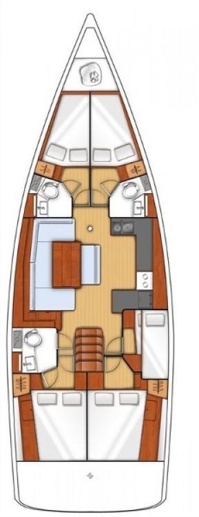 Segelboot mieten in Croatie - Bénéteau Oceanis 48 - 5 cab.