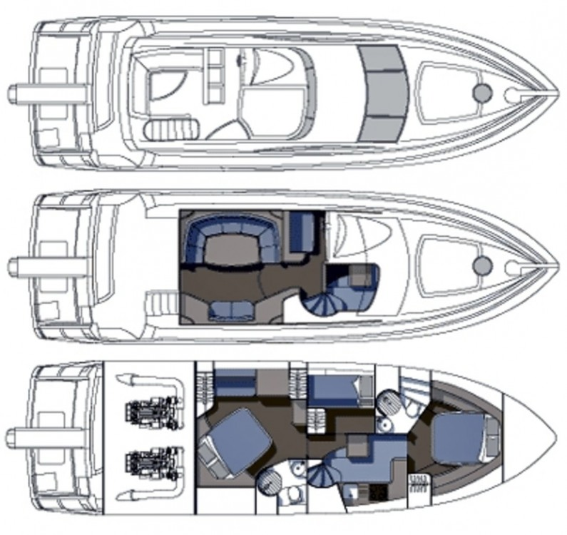 Yacht-Charter in Podstrana - Sunseeker-International Sunseeker Manhattan 50 - 3 cab. auf SamBoat