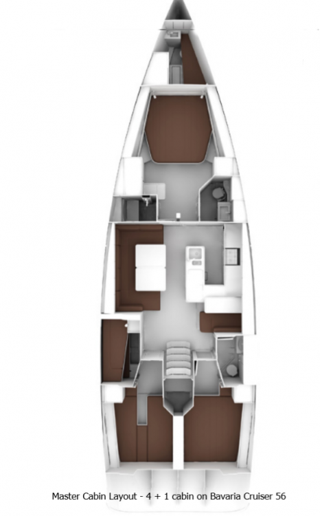 Bavaria Cruiser 56 zwischen Privatpersonen und professionellem Anbieter Split