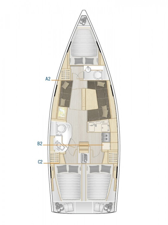 Bootsverleih Kroatien günstig Hanse 388