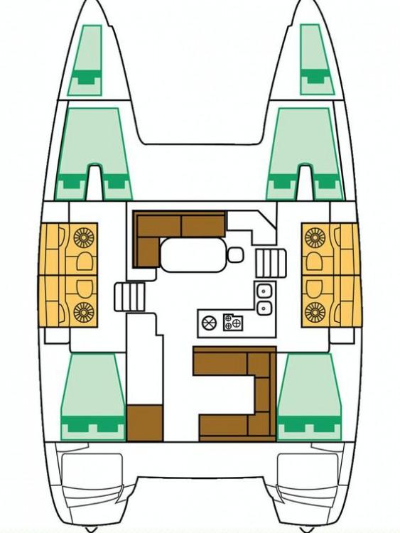 Bootsverleih Cannigione günstig Lagoon 400 S2