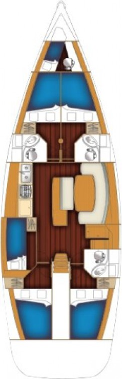Yacht-Charter in Peloponnese - Bénéteau Cyclades 50.5 - 5 + 1 cab. auf SamBoat