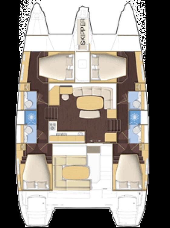 Yacht-Charter in Peloponnese - Lagoon Lagoon 420 - 4 cab. auf SamBoat