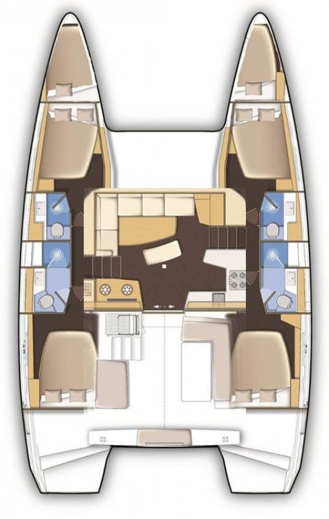 Yacht-Charter in Peloponnese - Lagoon Lagoon 42 - 4 + 2 cab. auf SamBoat