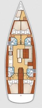 Yacht-Charter in Lefkada (Island) - Bénéteau Oceanis 50 - 5 cab. auf SamBoat