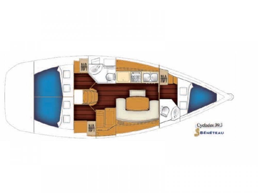 Yacht-Charter in Nea Moudania - Bénéteau Cyclades 39.3 auf SamBoat