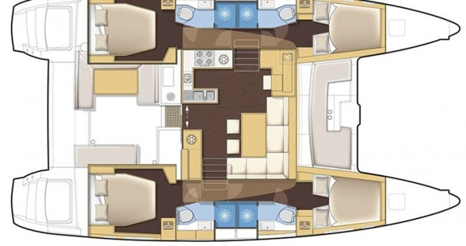 Yacht-Charter in Lefkada (Island) - Lagoon Lagoon 450 F auf SamBoat