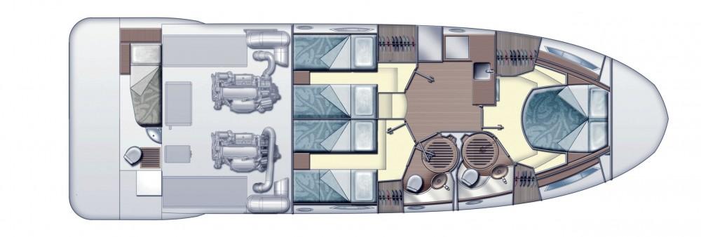 Vermietung Motorboot Azimut mit Führerschein