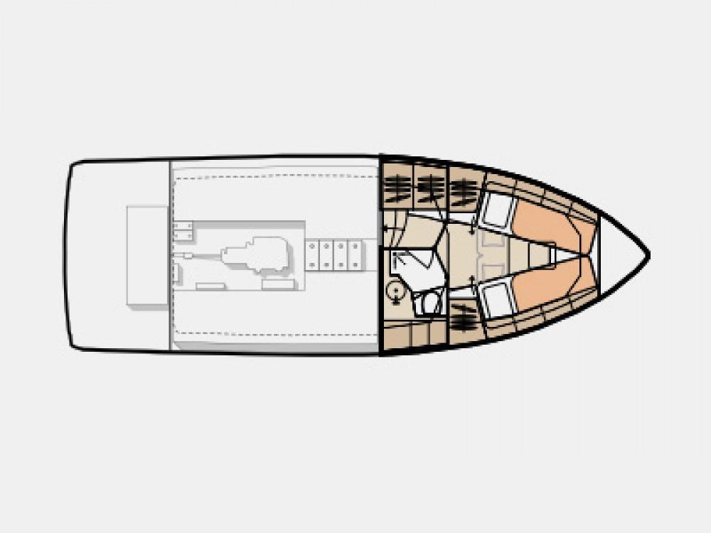 Vermietung Motorboot Seaway mit Führerschein