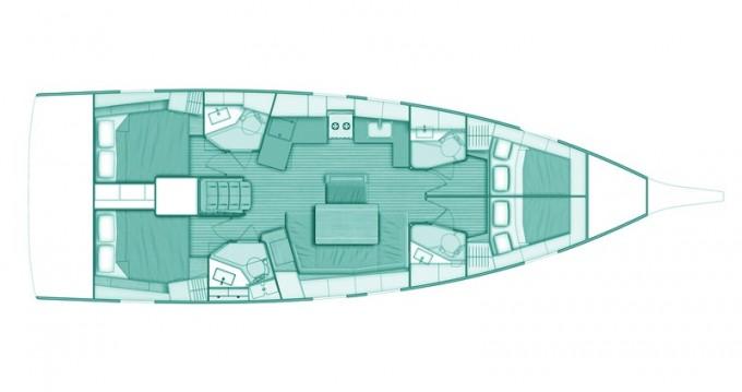 Bénéteau Oceanis 46.1 zwischen Privatpersonen und professionellem Anbieter Volos
