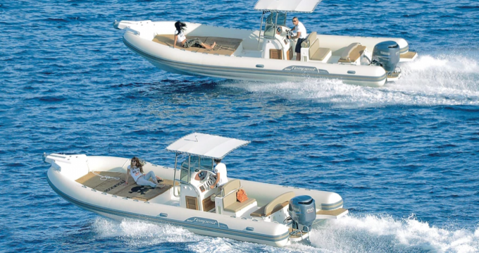 Schlauchboot mit oder ohne Skipper Capelli mieten in Arbatax