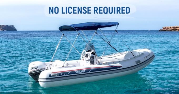 Vermietung Schlauchboot Selva mit Führerschein